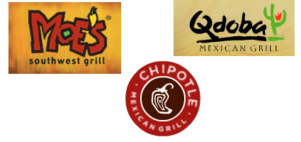 mexi showdown Mexican food stand off: Moes vs. Qdoba vs. Chipotle