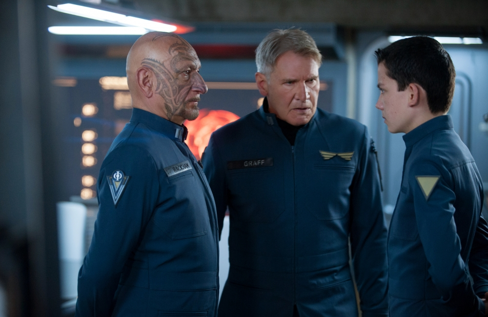 Enders Game Asa Butterfield Harrison Ford Ben Kingsley