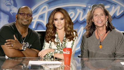 Quotation Marks   Steven Tyler, meat tornado, and playgrounds [American Idol Judges 425x240] (IMAGE)