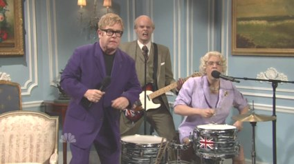 Saturday Night Live   Elton John / Elton John with Leon Russell [snl royal wedding] (IMAGE)