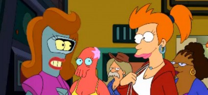 Futurama comes back ... with a stumble   CartoonClack [FuturamaGenderBending 425x194] (IMAGE)