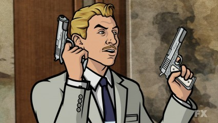 Archer   Who knew Ray was a redneck? [archer ray guns 425x239] (IMAGE)