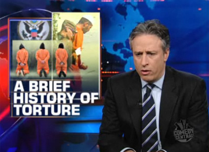 Best of the Daily Show and Colbert Report   This week in torture [dailyshowapril09] (IMAGE)