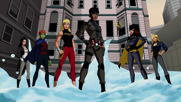 Young Justice - superheroines
